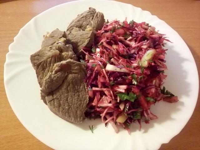 Салат из капусты буйство красок.