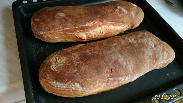 Белый хлеб на простокваше.