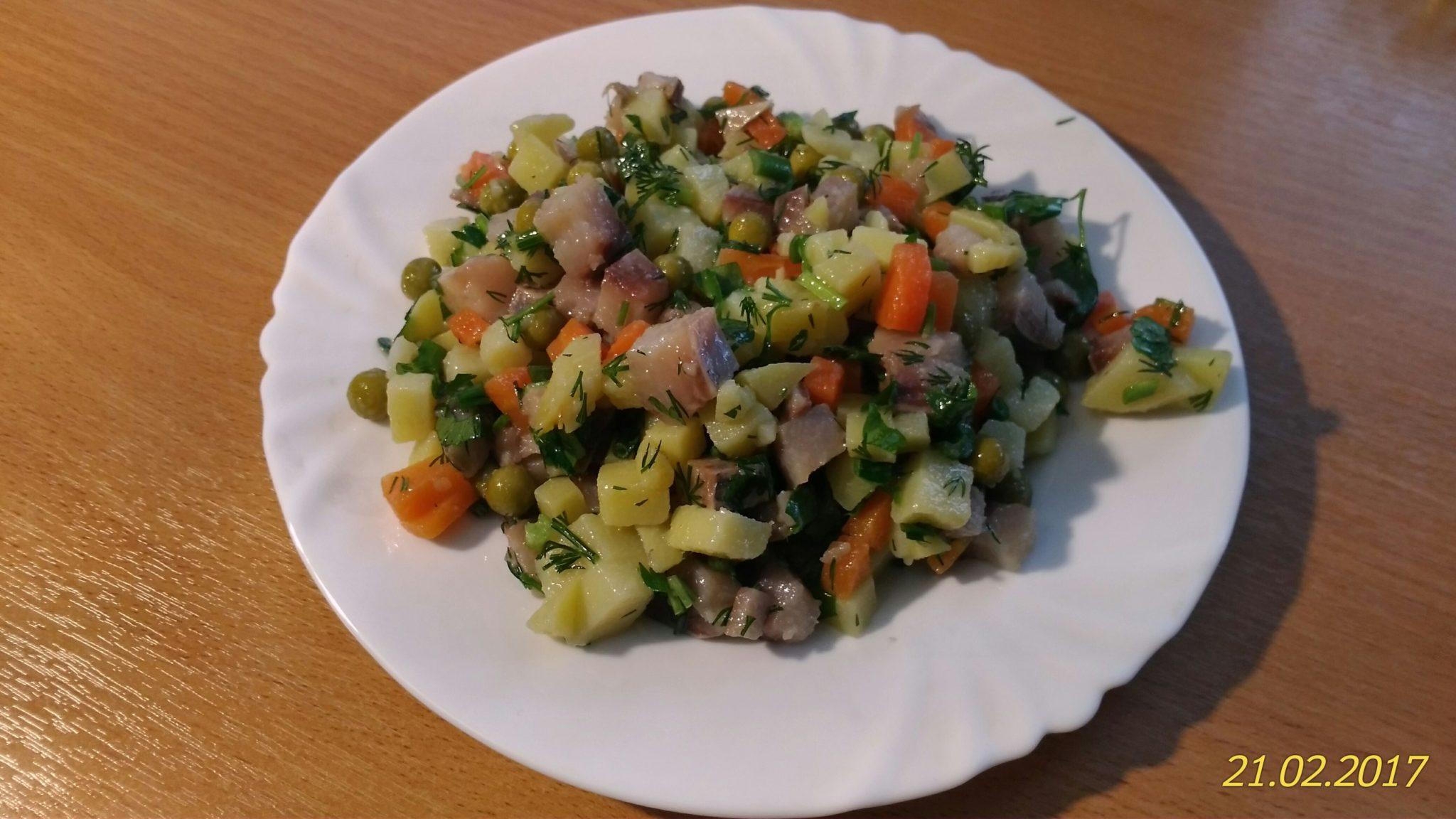 Салат Картофель с сельдью
