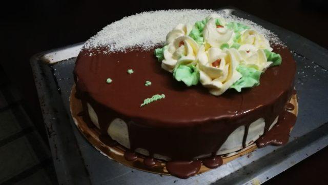 Торт шоколадно-сливочный.