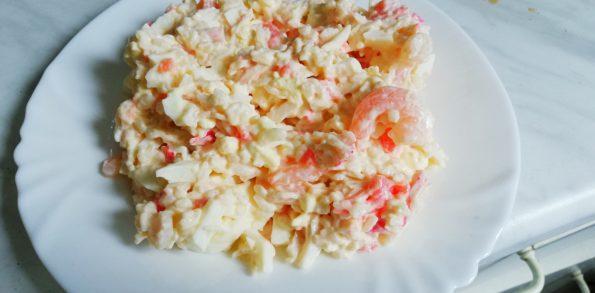 Салат крабовый с креветками