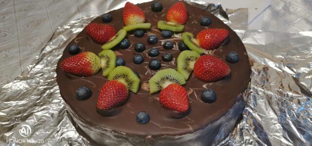 Торт шоколадный с сырным кремом. v1