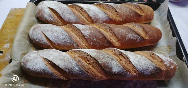 Приготовление 3-х багетов — фото версия к статье.